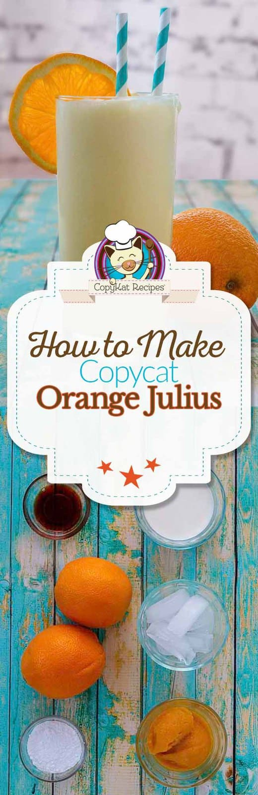 Make your own homemade Orange Julius with this easy copycat recipe.