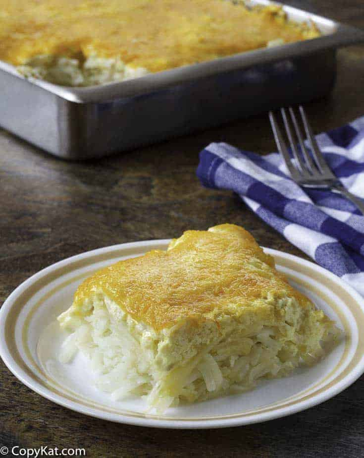 Make your own copycat recipe for Cracker Barrel Hash Brown Casserole at home.