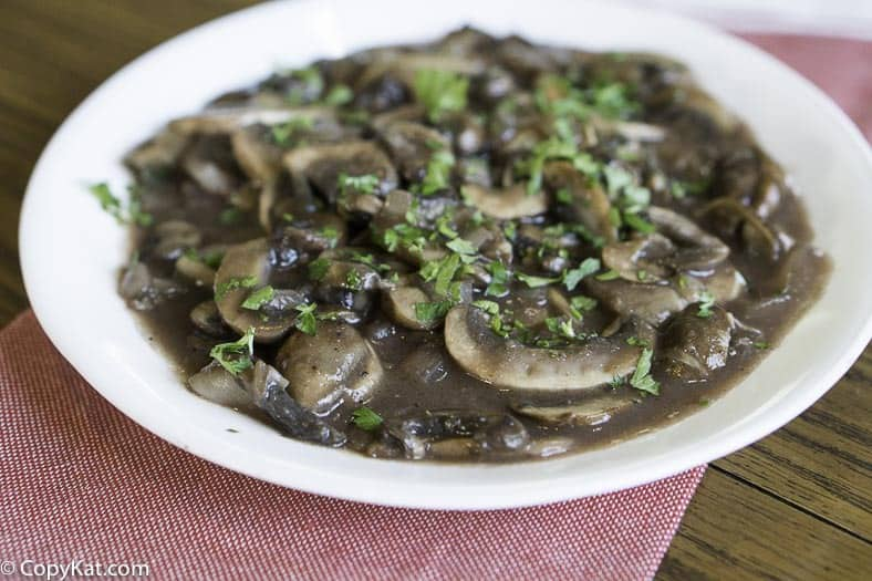 Steak and Ale Mushrooms can't be missed. Recreate them at home with this copycat recipe.