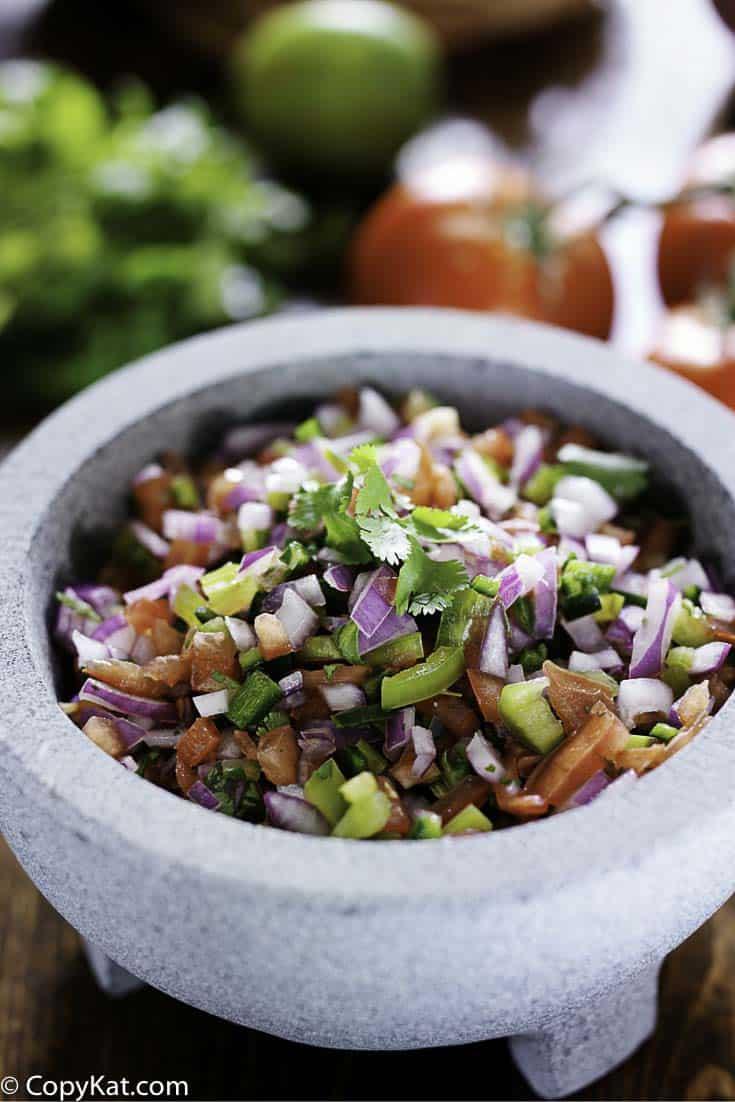 Make Applebee's Pico de Gallo with this easy copycat recipe.