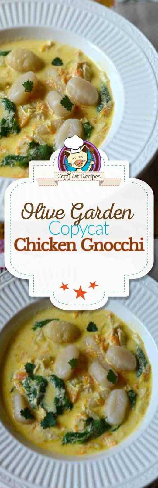 Make your own delicious Olive Garden Chicken Gnocchi tonight.  Everyone loves this recipe.