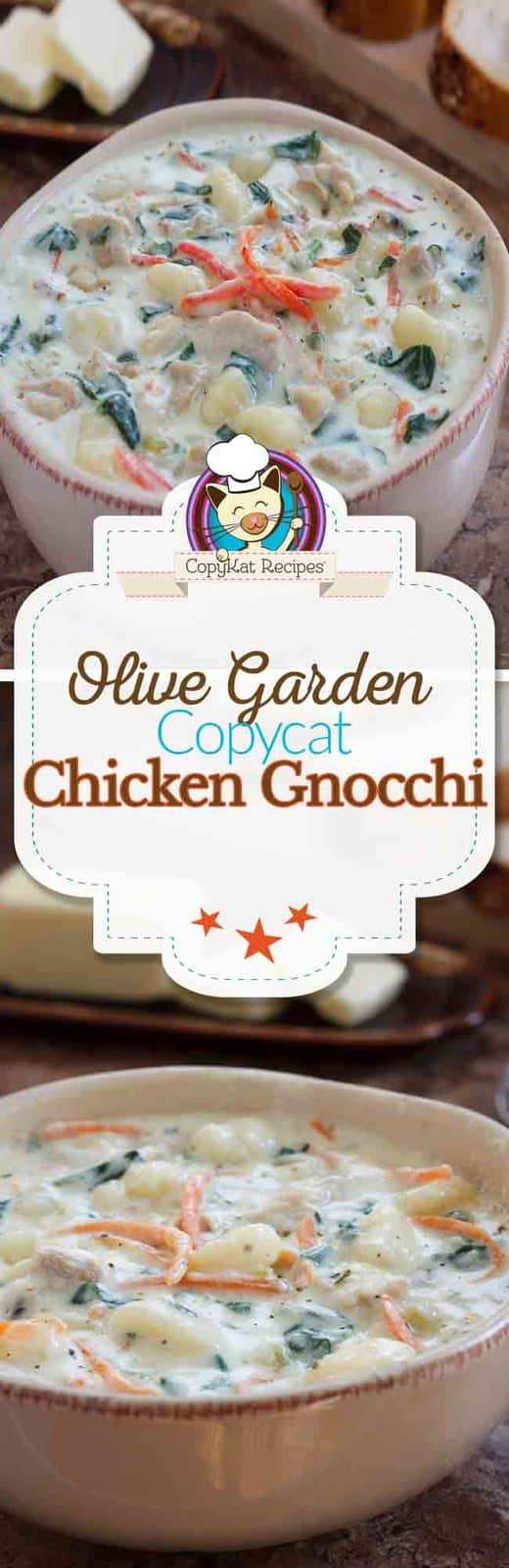 Learn how to make your own homemade copycat version of the Olive Garden Chicken Gnocchi Soup.