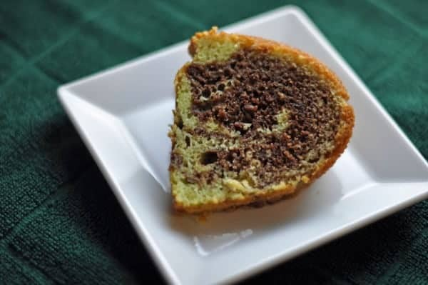 Chocolate Pistachio Pudding Bundt Cake