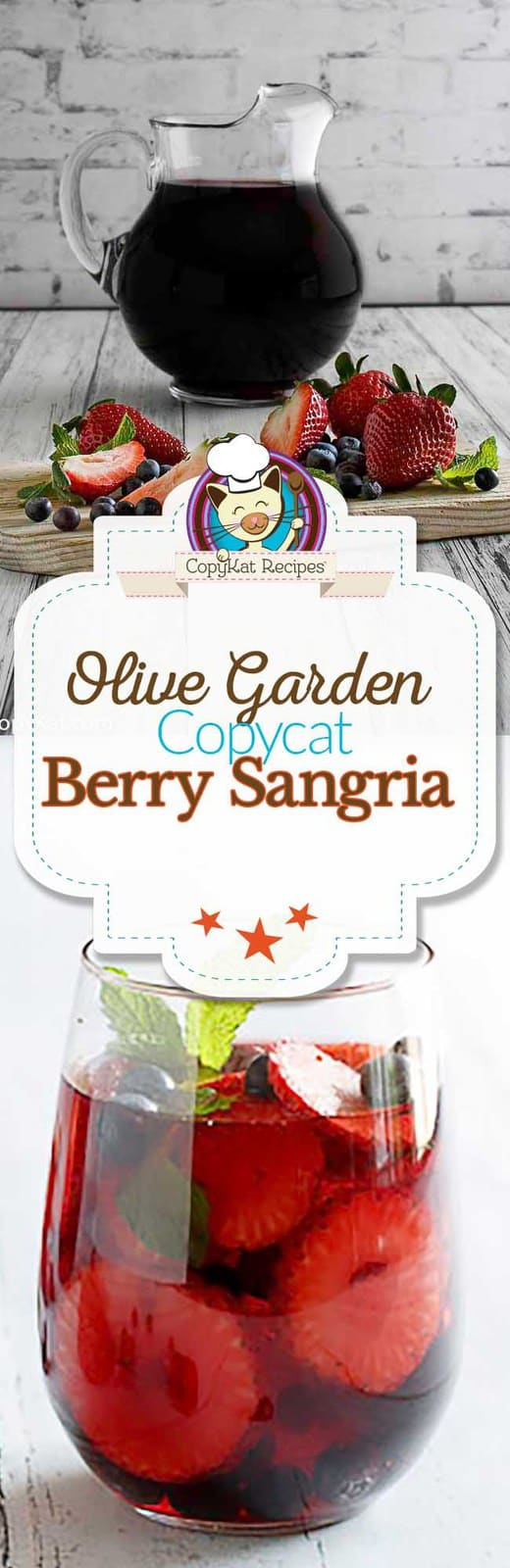 You can prepare Olive Garden Berry Sangria at home.
