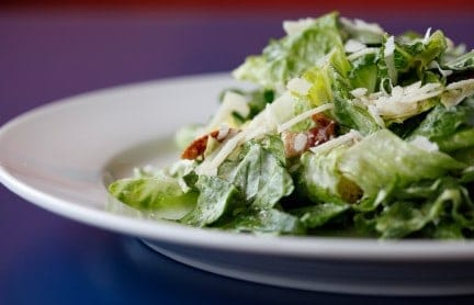 caesar salad on a plate