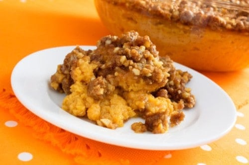 sweet potato casserole on a plate
