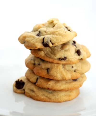 stack of chocolate chip cookies