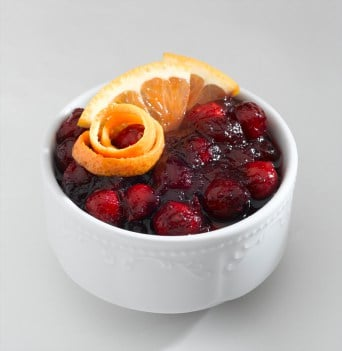 bowl of cranberry salad