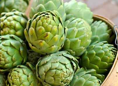 basket of artichokes