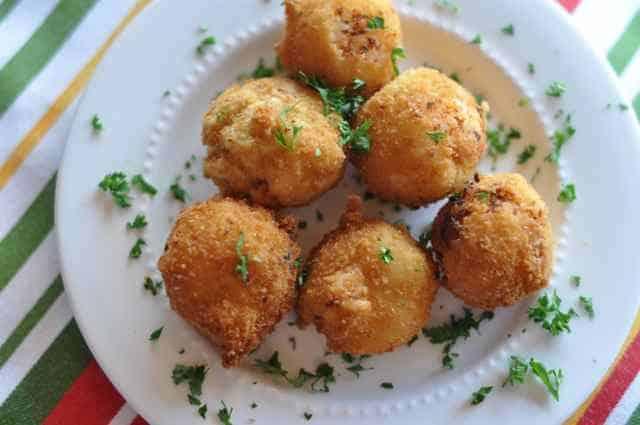 Italian Rice Balls on a plate