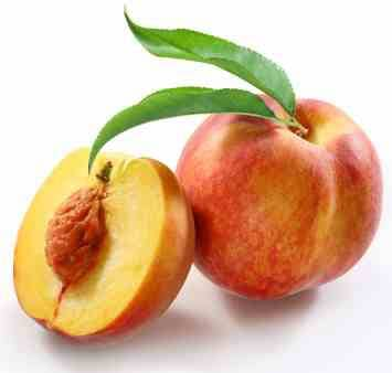 fresh peaches taste great in sunny day salad