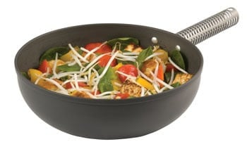 Man Pan used to stir fry veggies