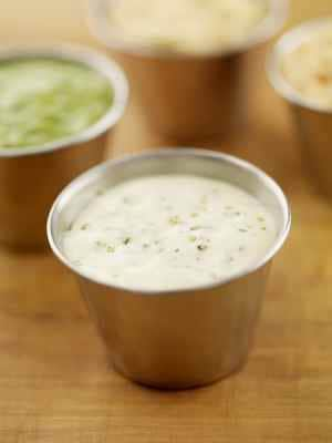 Ranch dressing in a cup