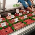 meat counter and butcher