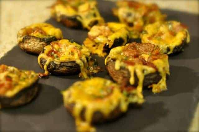 stuffed mushrooms with bacon and cheese