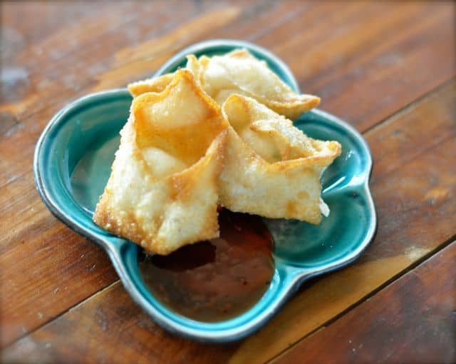 cream cheese won ton