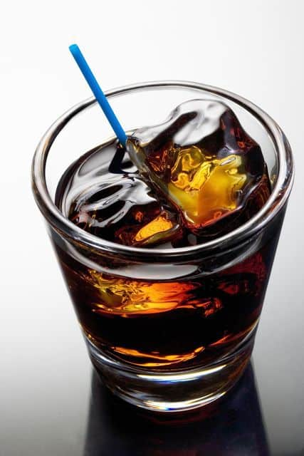 Black Russian made with Kalhua