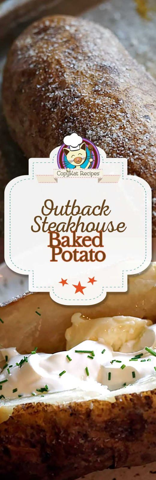 Get the secret to make baked potatoes with the crispy skin you will love.   Make this copycat recipe for the famous Outback Steakhouse baked potato at home.