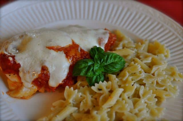 chicken parmesan in the oven