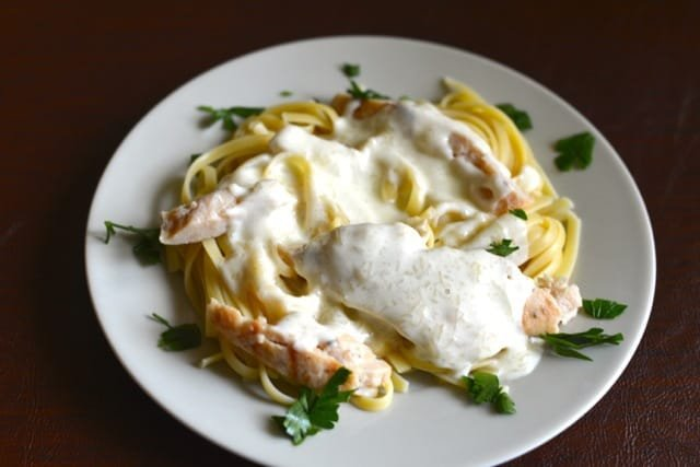 grilled chicken with alfredo sauce