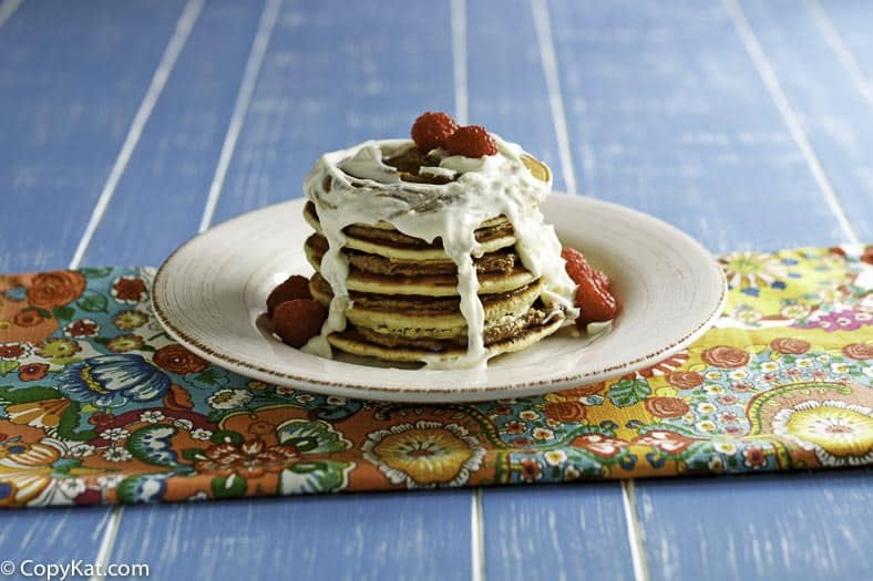 You can recreate the the IHOP Cinn-a-Stack pancakes at home.