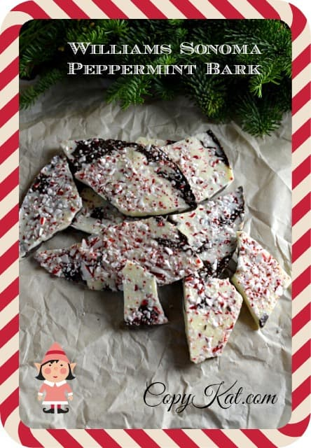 chocolate bark with peppermint