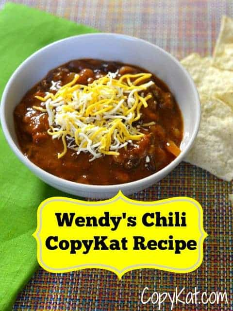 make a bowl of wendy's chili