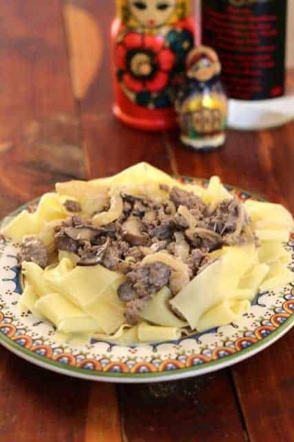 ground beef stroganoff