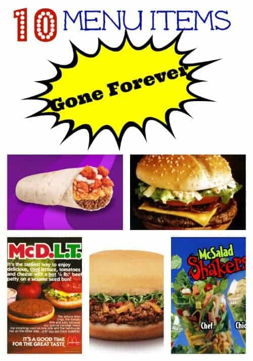 10 fast food items gone forever