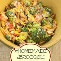 homemade broccoli salad