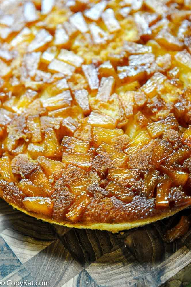 Make this pineapple upside down cake from CopyKat.com