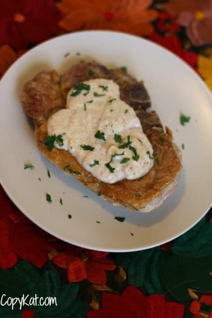 Homemade Pork Chops with Gravy from CopyKat.com