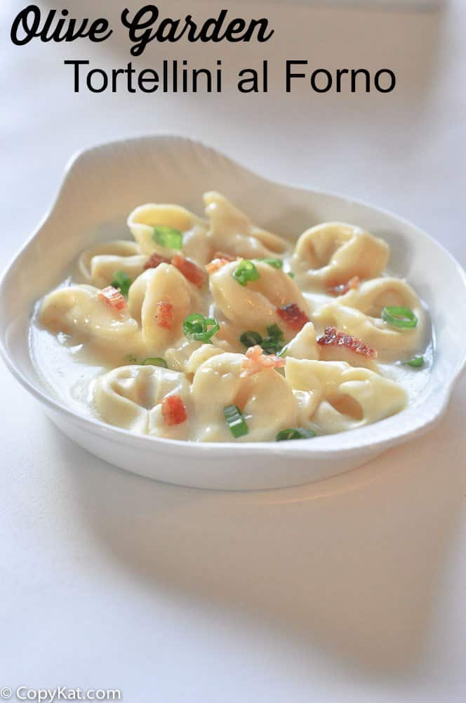 Tortellini al Forno - Olive Garden make this recipe from CopyKat.com