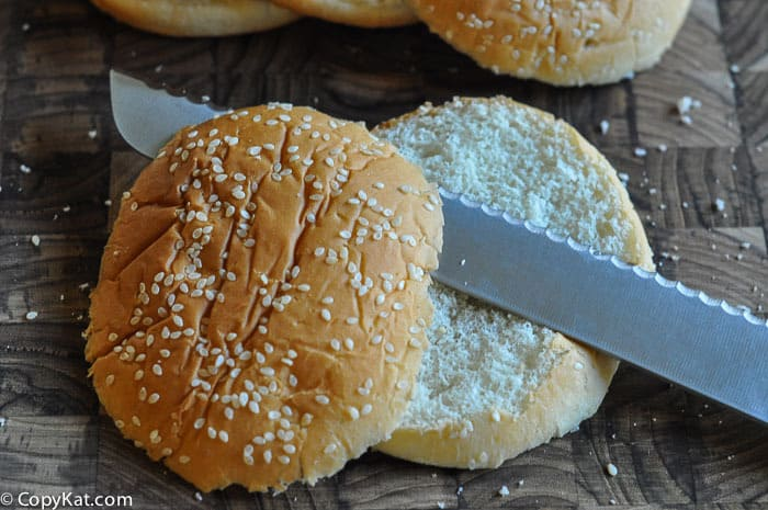 how to cut the big mac bun