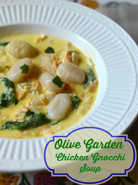 Olive Garden Chicken Gnocchi Soup Recipe from CopyKat.com