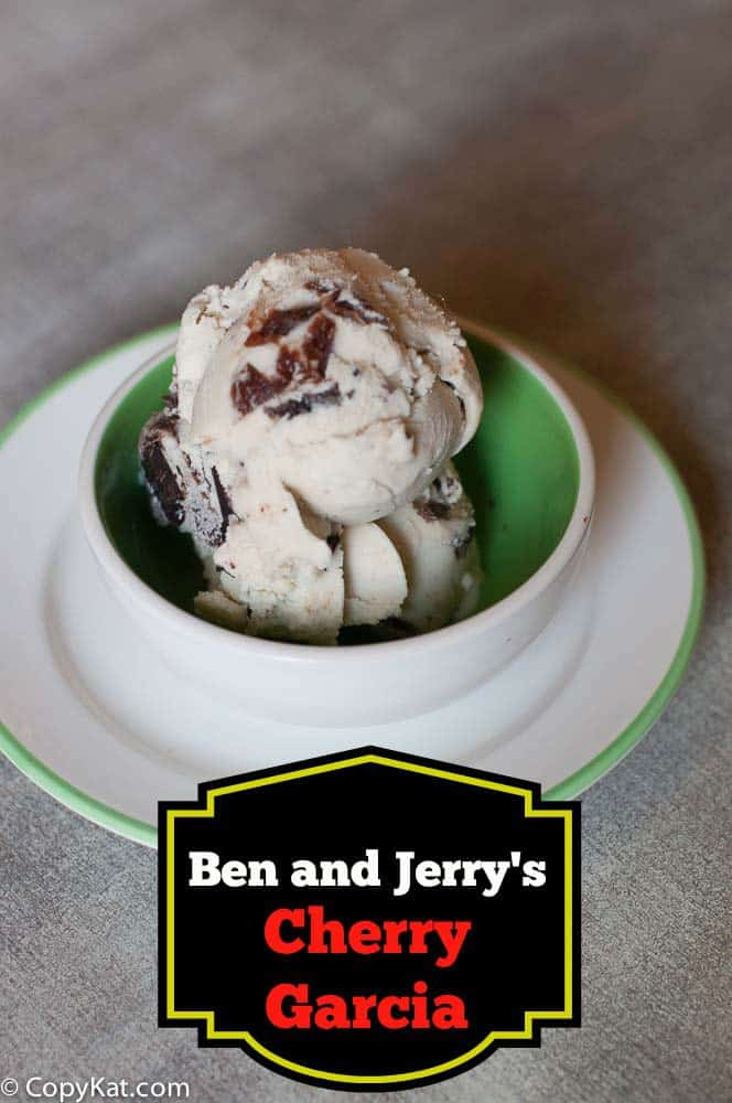 Ben and Jerrys Cherry Garcia Ice Cream from CopyKat.com