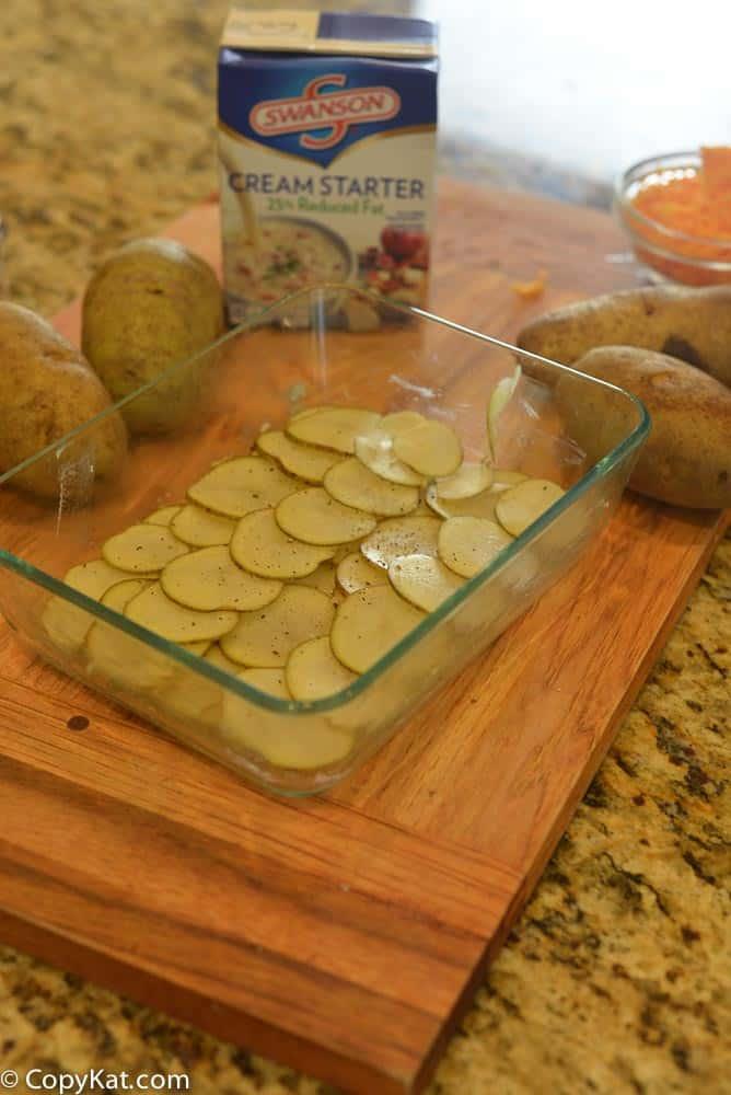 Swansons low fat scalloped potatoes