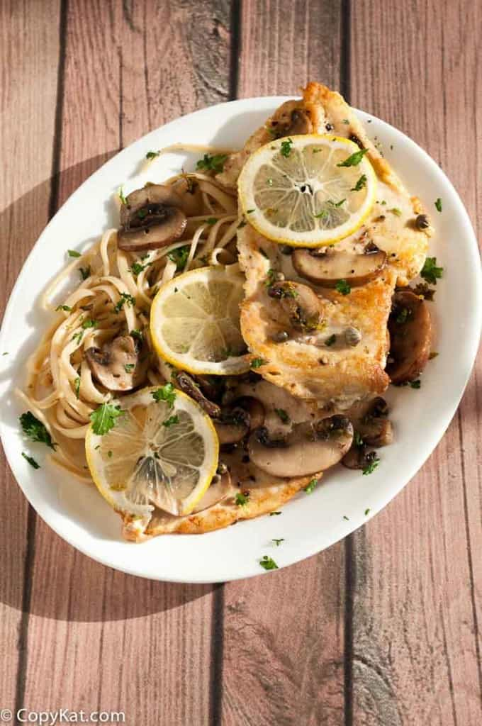 Cheesecake Factory Chicken Piccata copycat recipe from CopyKat.com