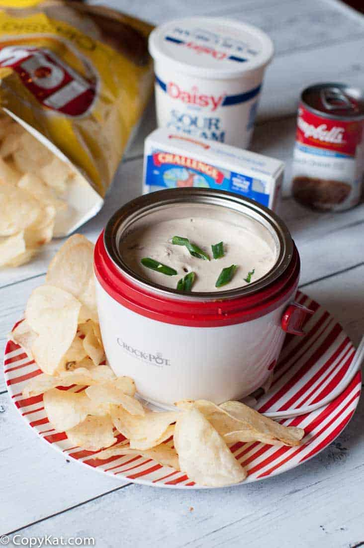 Hot French Onion Soup Dip - Just Three Ingredients