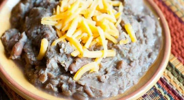 Make restaurant style refried beans from CopyKat.com