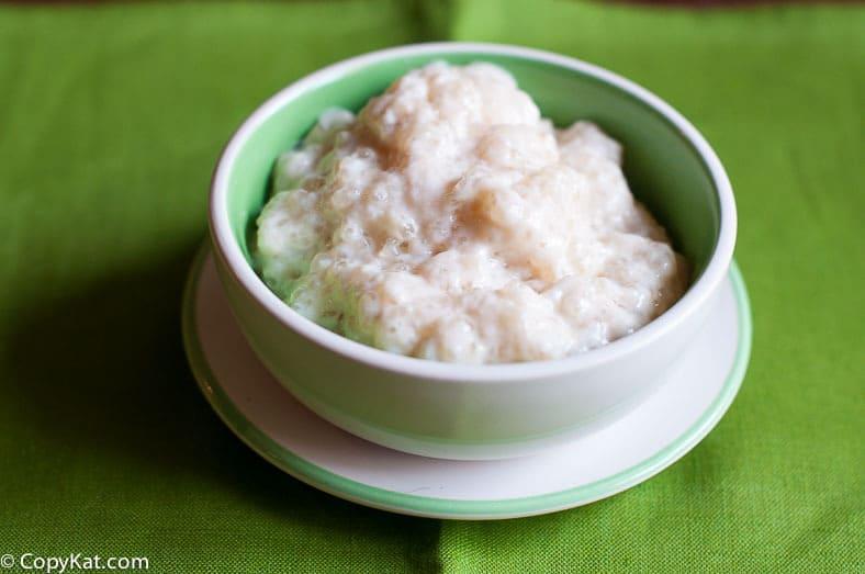 Homemade Tapioca Pudding.