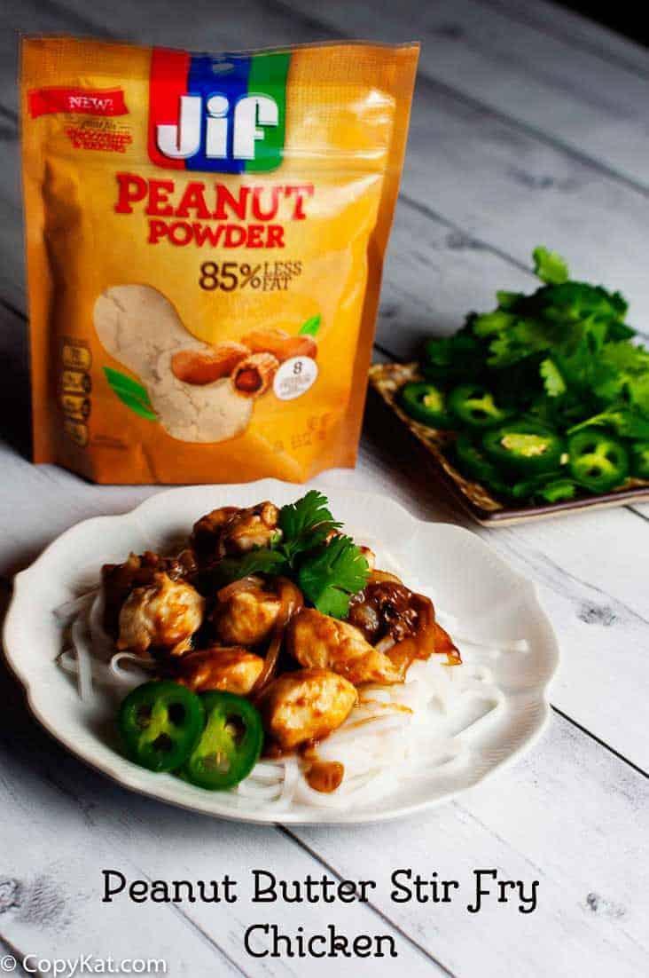 Easy Peanut Butter Stir Fry Chicken