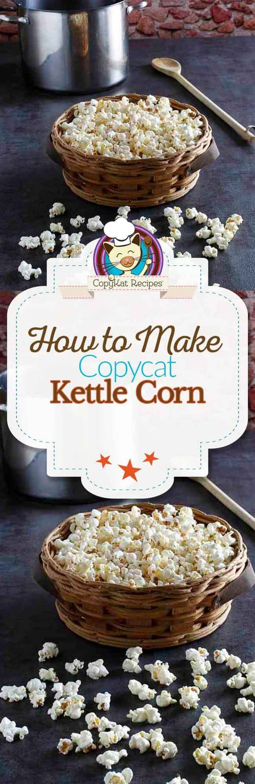 You can make kettle corn from scratch, its easy to do.  Step by step instructions on how to make delicious kettle corn.