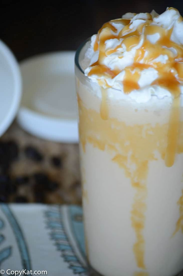 Make your own Starbucks Caramel Frappuccino at home with this easy copycat recipe.