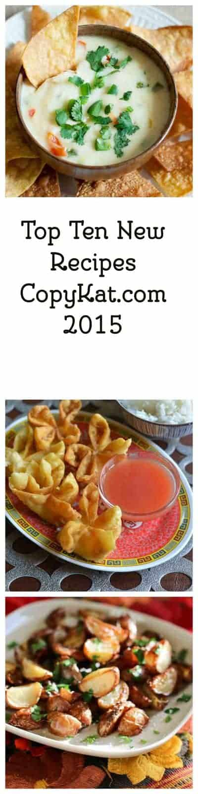 Check out the most popular recipes on CopyKat.com. I bet you find a new favorite recipe here.