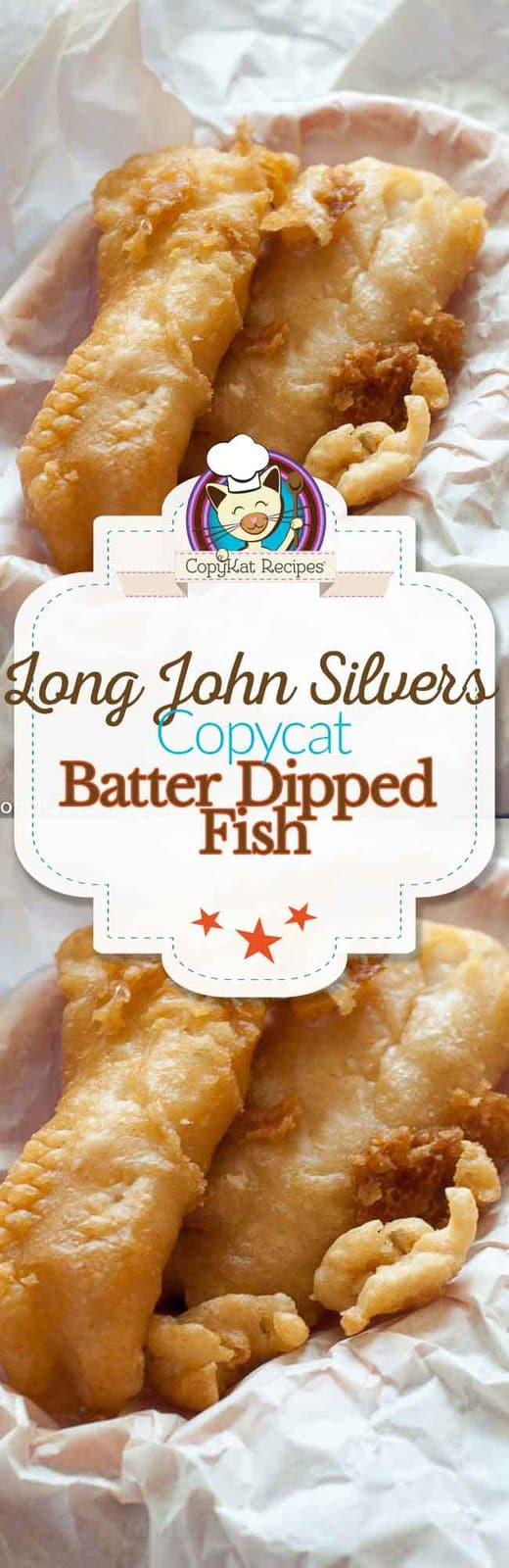 Make your own copycat version of Long John Silvers Crispy Batter Dipped Fish with this easy recipe.