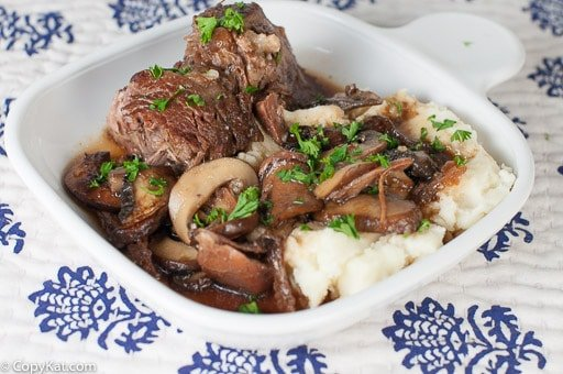 Make your own homemade Cracker Barrel Braised Mushroom Pot Roast at home with this easy copycat recipe.