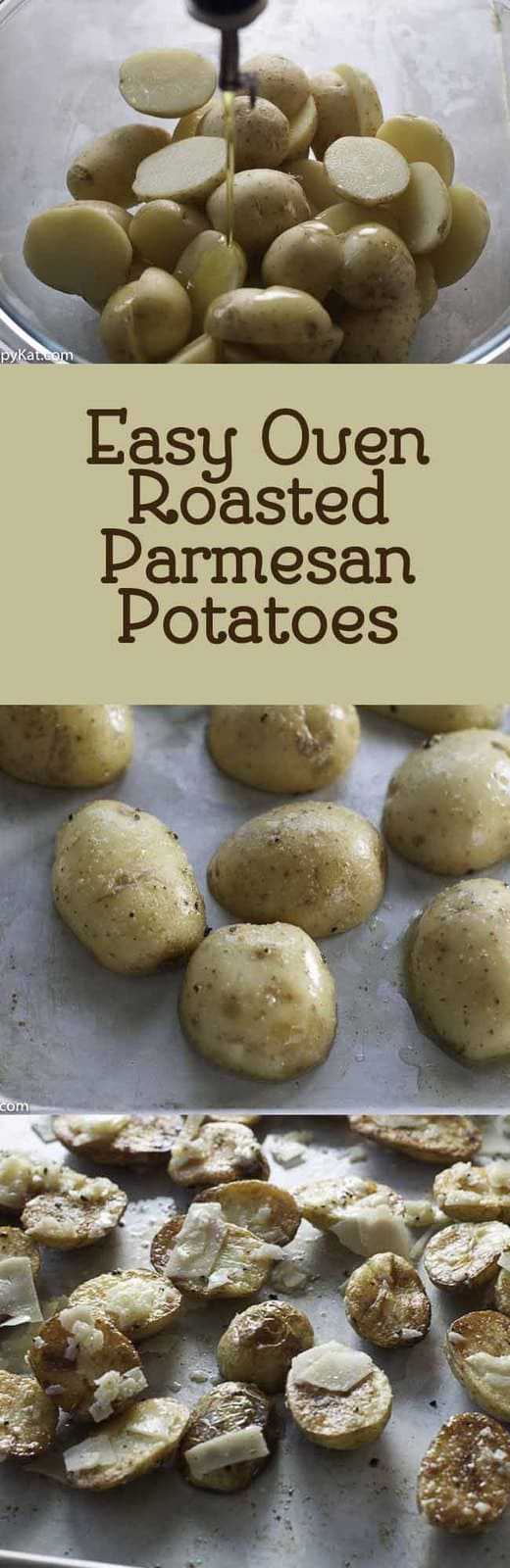 Make easy oven roasted Parmesan Potatoes, it's so easy to make these delicious roasted potatoes.