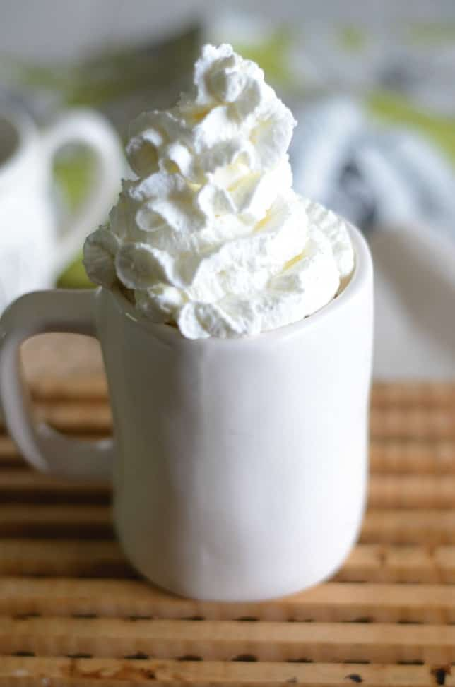 Make your own delicious Starbucks White chocolate mocha at home with this easy copycat recipe.  Save Money! #DIY