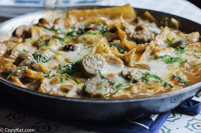 This savory Italian skillet takes no time to make.